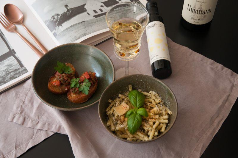 Pannonische Maccheroni and Cheese und Pinot Gris von Umathum