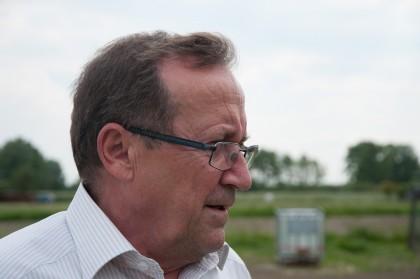 Heinz Lentsch beim Majoranfeld