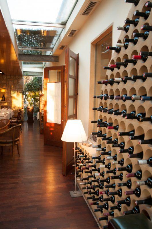 Restaurant Weinflaschen