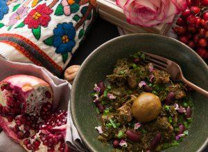 Ghormeh Sabzi, das traditionelle persische Gericht