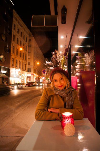 Die Bloggerin in der Wiener Innenstadt
