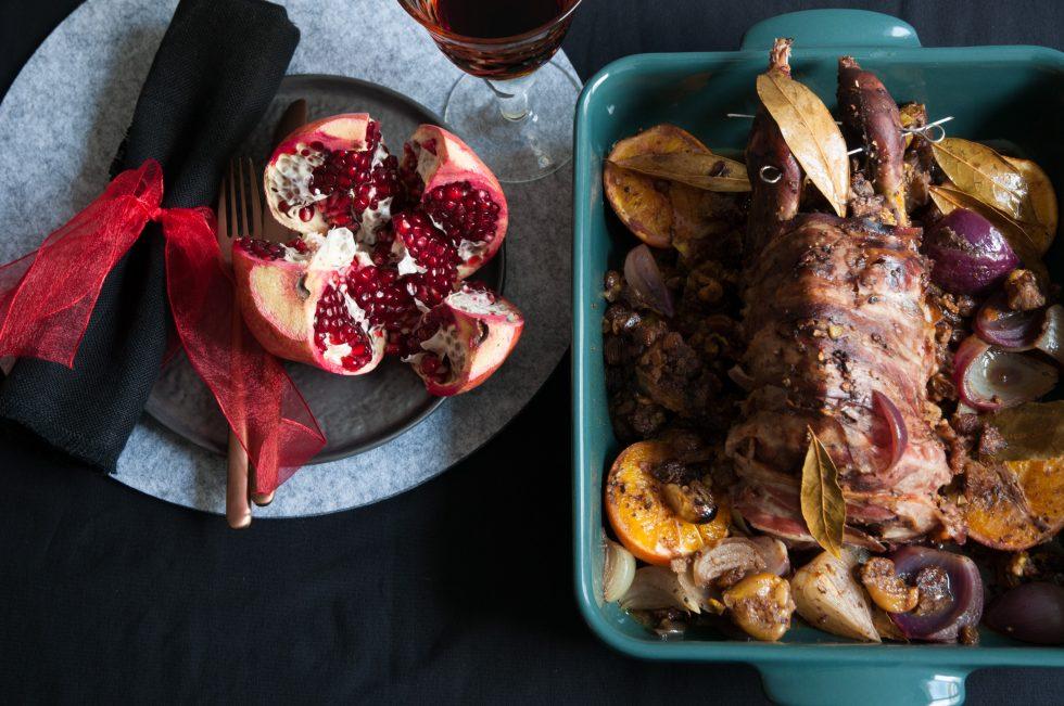 Fasan und Granatapfel zu Yalda
