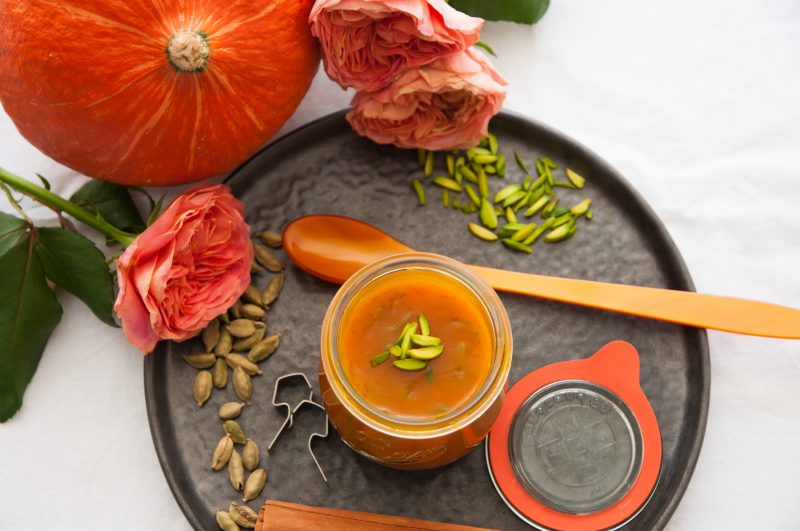 Hokkaido-Orangen-Marmelade mit orientalischen Gewürzen