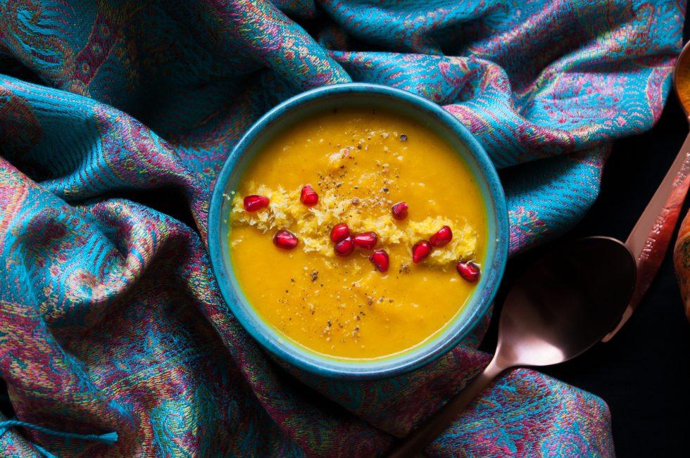 Kürbissuppe mit Zitrusnote