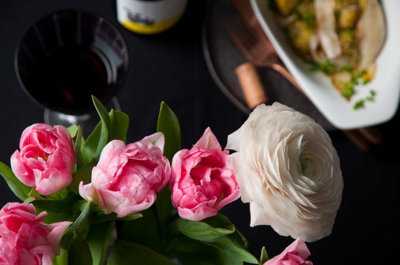 Tulpen und Ranunkeln
