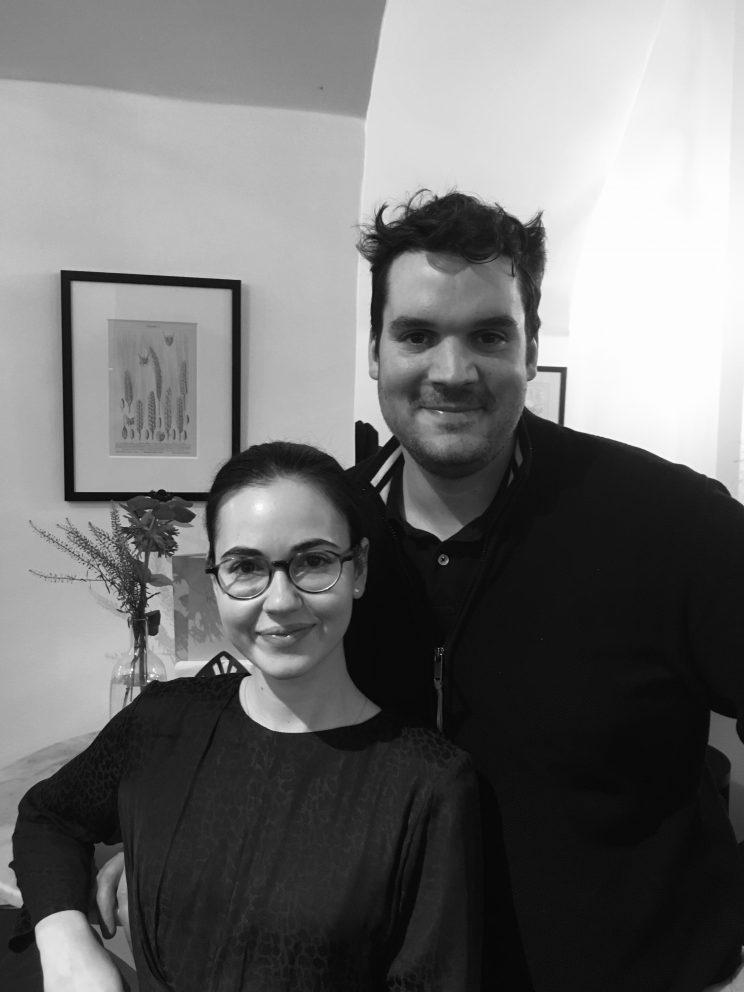 Patricia Petschenig und Rémi Soulier beim Interview