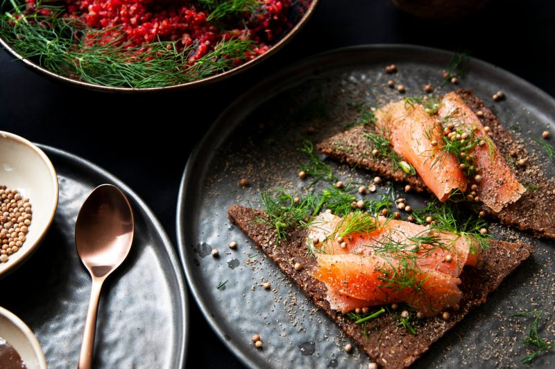 Pumpernickel mit Lachs